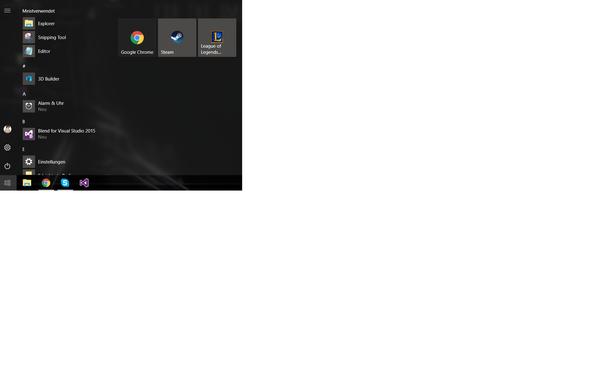 Proble, - (Windows 10, Startmenü)