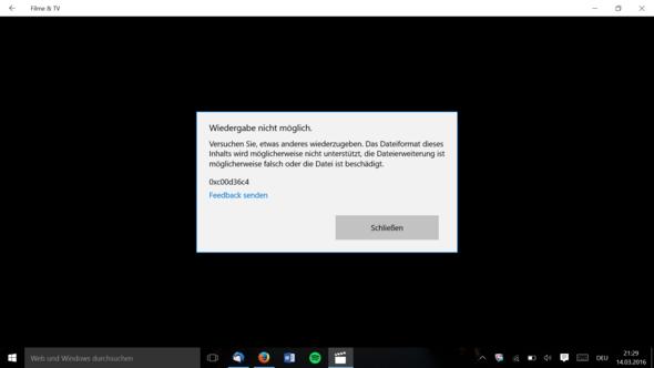 Fehlercode - (Video, Fehler, Windows 10)