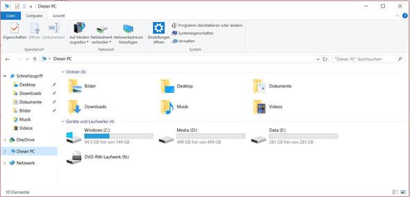 My PC - (Windows 10, DVD-Laufwerk)