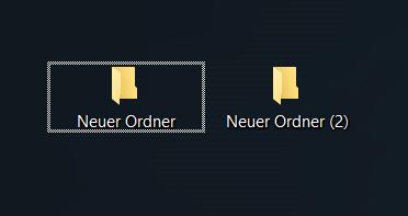Windows 10 alle ordner hat rahmen?