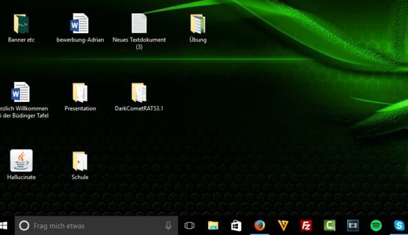 Bild zum Abstand der Icons - (Windows 10, Desktop, Icon)