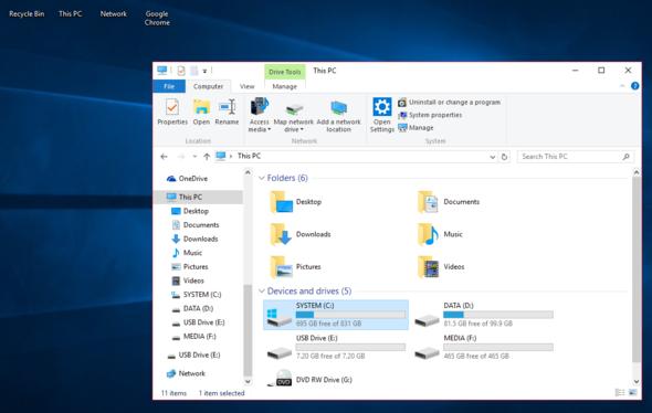 Vergleich mit dem Explorer Fenster - (Windows, Windows 10, Desktop)