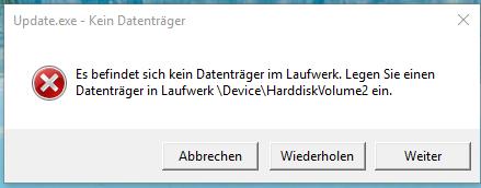das ist die fehlermeldung... - (Computer, Fehlermeldung, Windows 10)