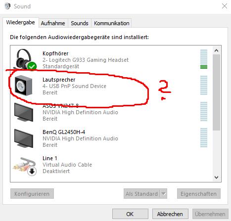 So wird es erkannt. - (Windows 10, Mikrofon)