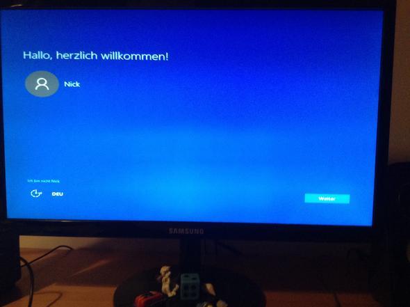 """Windows 10 blauer """"Hallo, herzlich willkommen"""" Bildschirm - (Windows 10, Installation)"""