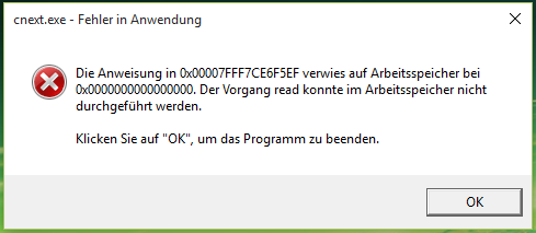 Hier die Fehlermeldung - (Fehler, Windows 10, RAM)