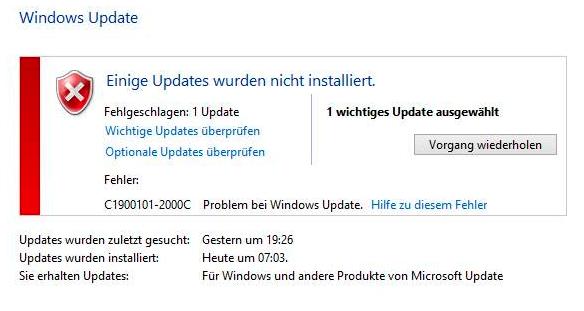 Updatefehler - (Computer, Technik, Windows)