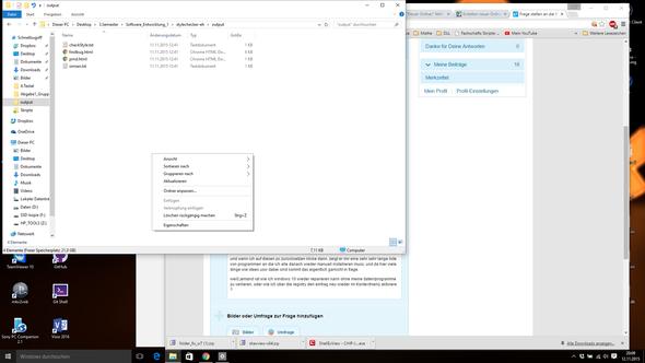 kontextmenü neu fehlt  - (PC, Technik, Windows 10)