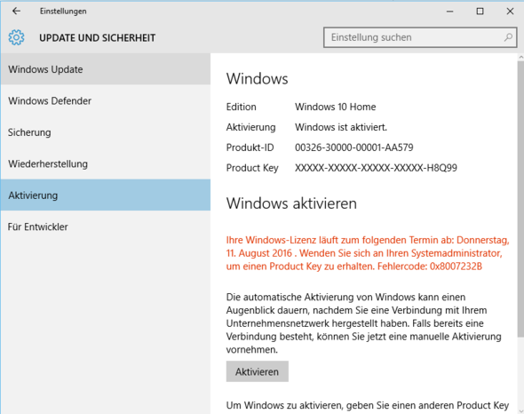 Aktivierungsfenster - (Computer, PC, Technik)