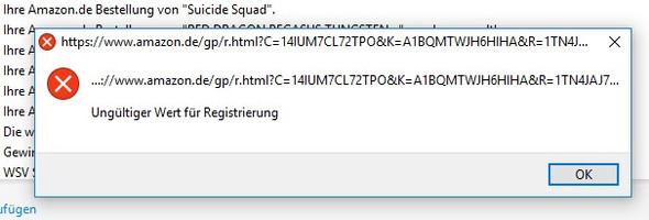 Fehler aus E-Mail - (Computer, PC, Windows)