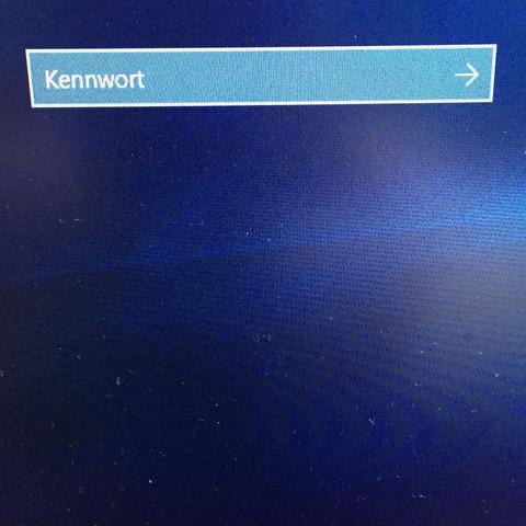 Hier ein Bild des Eingabefeldes - (Computer, Fehler, Passworteingabe)