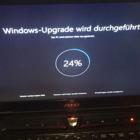 Windows 10 Update hängt bei 24% was soll ich machen?