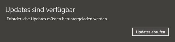 Windows 10 Updates sind Verfügbar Pop up - (Windows 10, Windows-Update, Pup Up Fenster)