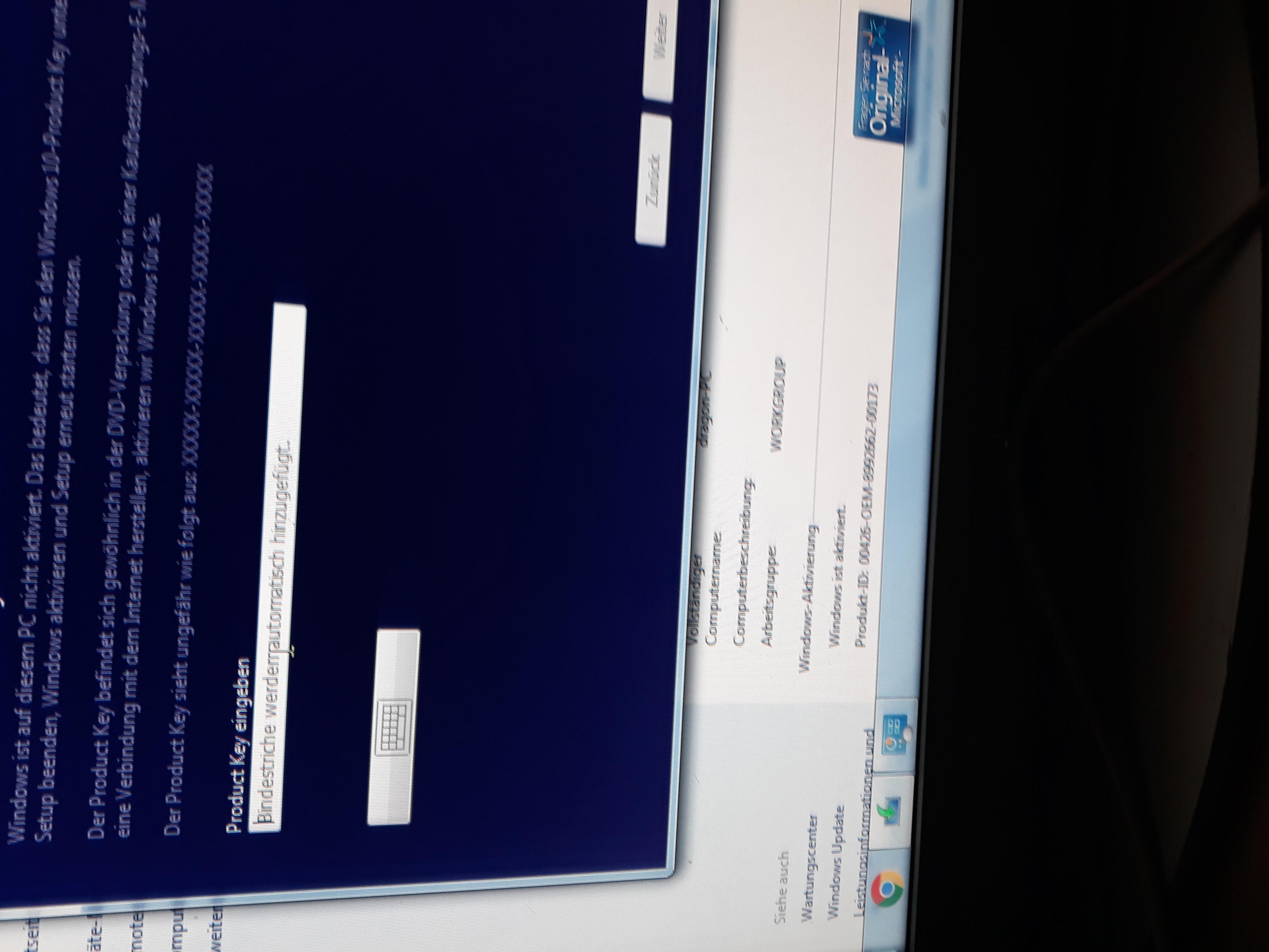 windows 10 product key eingeben funktioniert nicht