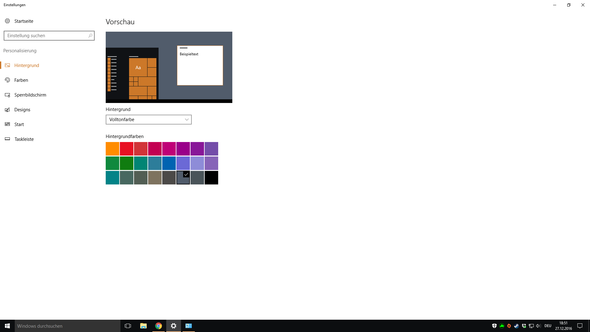 Farbpalette Volltonfarbe - (Windows, Farbe, Windows 10)