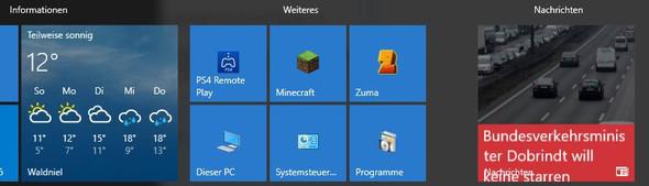 Hier sieht man die Wetter und Nachrichten App die ich meine - (Computer, PC, Technik)
