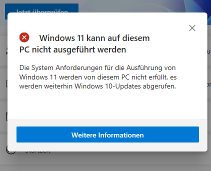 Windows 11 | Installation nich möglich?