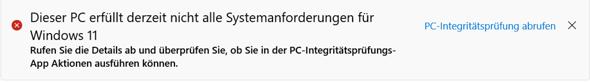 Windows 11 Prozessor wird nicht unterstützt?