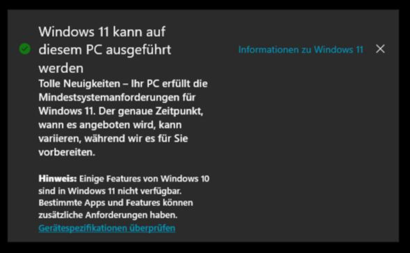 Windows 11 Systemanforderungen vollständig, kann jedoch nicht herunterladen?