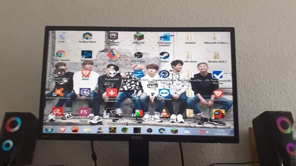 Windows 7 Binq Bildschirm komische Anzeige?