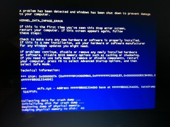 Der Bluescreen - (Windows 7, Absturz, Bluescreen)