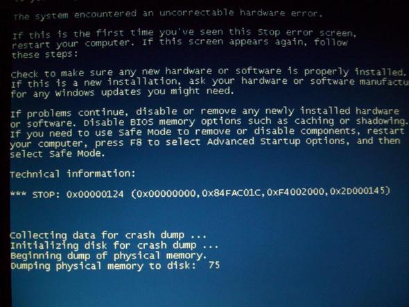 Bluescreen Absturz - (Windows 7, Fehlermeldung, Absturz)