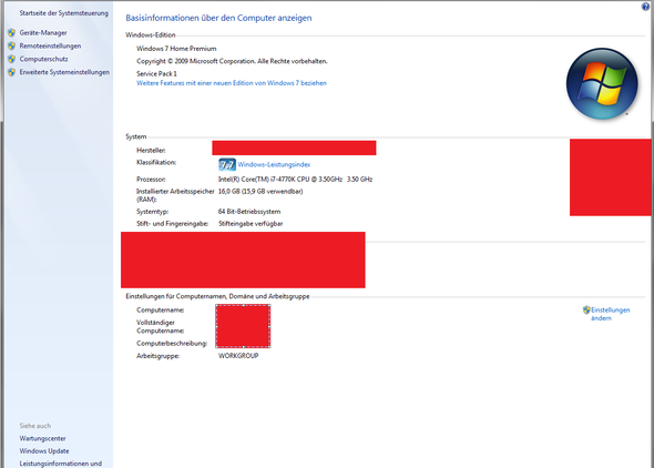 computer - eigenschaften - (Windows, build, Windows-Aktivierung)