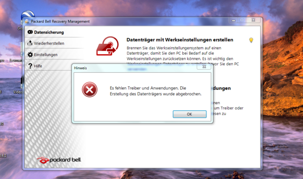 Hier ein Screenshot - (Windows 7, Treiber, brennen)