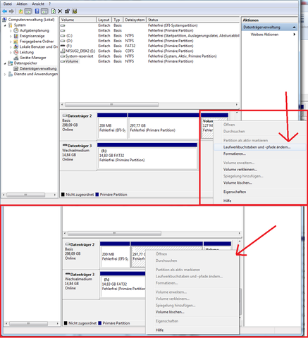 Meine Externe SSD Festplatte wird unter Windows 7 nicht angezeigt - (Windows 7, externe Festplatte, Externe SSD Festplatte)