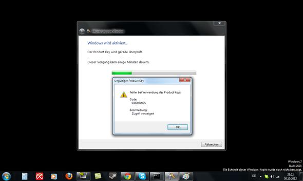 Die Fehlermeldung  - (Technik, Programm, Windows 7)