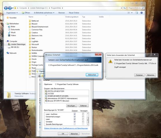 Zugriff verweigert - (Windows 7, Zugriff verweigert, Datei rechte)