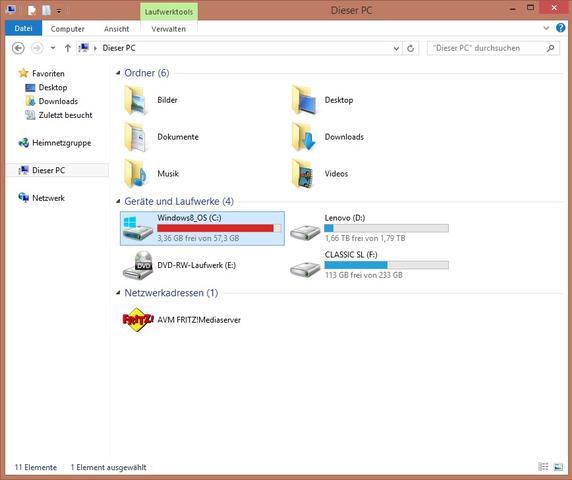 Bild 2 - (Windows 8, Laufwek voll)