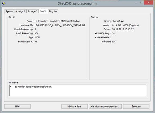 dxdiag Bild 3 - (Treiber, Ton, Windows 8.1)