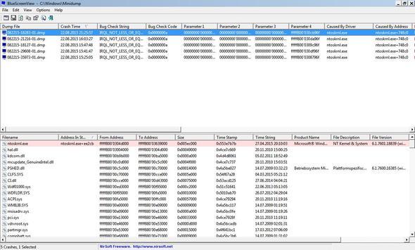 Screenshot #1 - (Windows 7, Bluescreen)