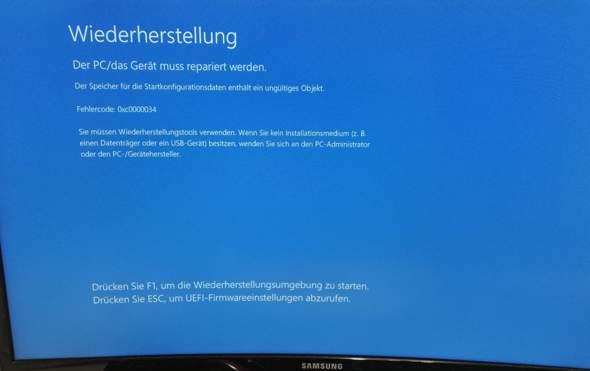 Windows Fehler 0xc0000034 beheben?
