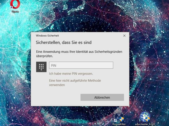 Pin abfrage  - (Windows, Virus)