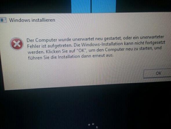 Nach jedem Neustart, erscheint dies hier. - (Windows 10, Installation)