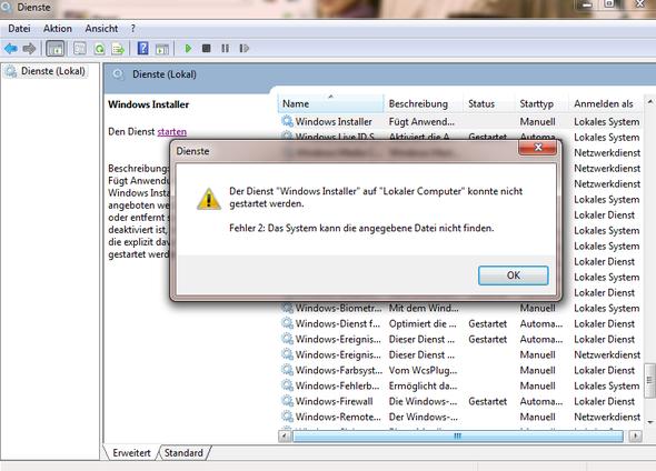 Problem - (Windows, Microsoft, installieren)