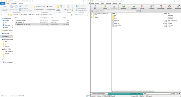 Hier das, was in der Iso Datei ist und die Datei selber - (Computer, PC, Windows)