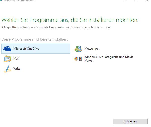 Windows Essentials Deinstallieren