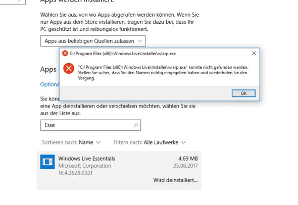 Fehlermeldung 2 (Bild 2) - (Computer, Technik, Windows)