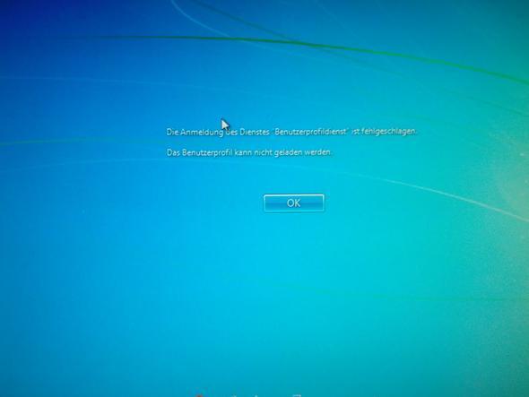 Fehlermeldung - (Windows, Login, Win 7)