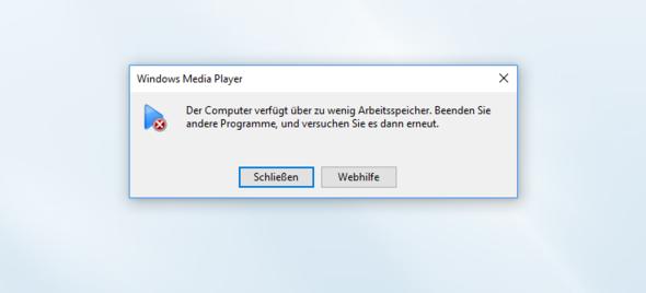 Windwos Media Player Fehler - (Computer, Windows, Windows 10)
