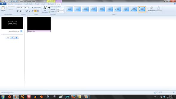 Mein Movie maker ( ich meine den schwarzen Bereich oben Links wo mein film steht - (Film, Windows 7, Movie Maker)