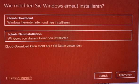 Windows neu Installieren Unterschied?