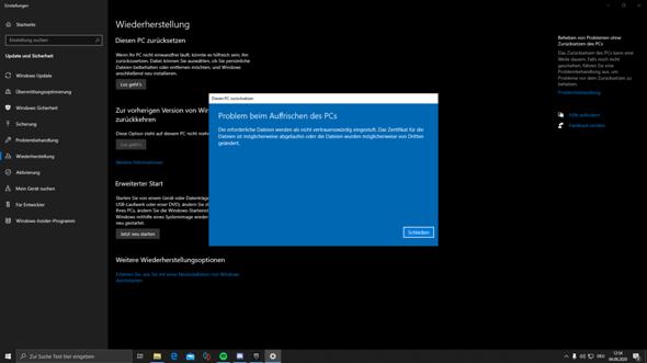 Windows Lässt Sich Nicht Zurücksetzen