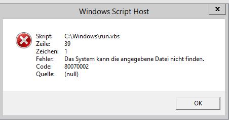 Der Fehler - (Windows, Fehler, Fehlermeldung)