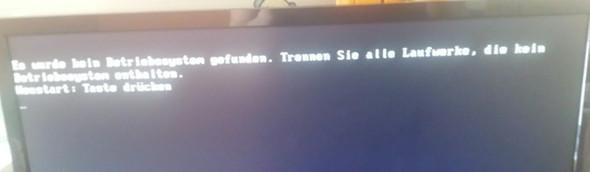 - (Windows, Fehlermeldung, Boot)