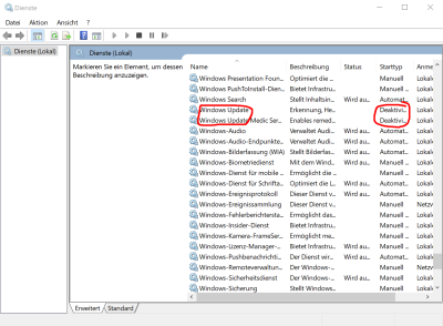 Windows update Fenster lädt nicht?