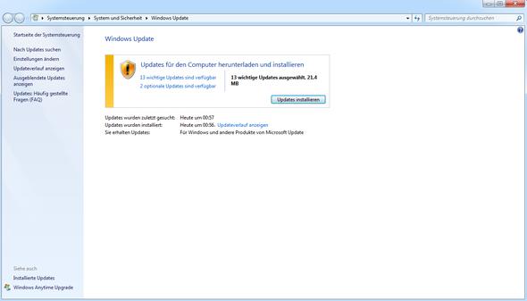 vorher - (Windows-Update, windows-7-update, windows update fehler)